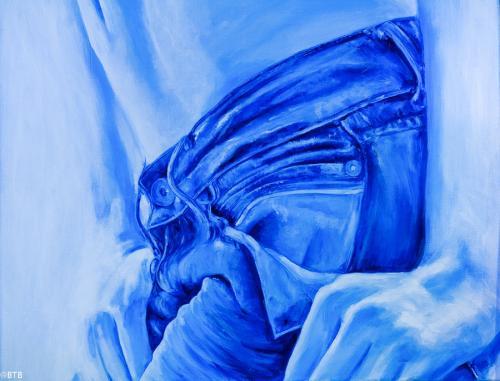 acrylic blue jeans meiltje
