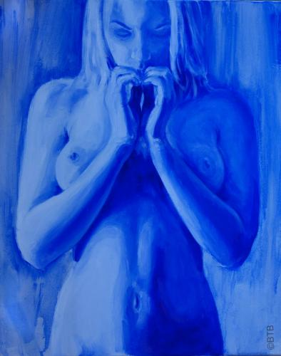 blue acrylic heart by bazzathe