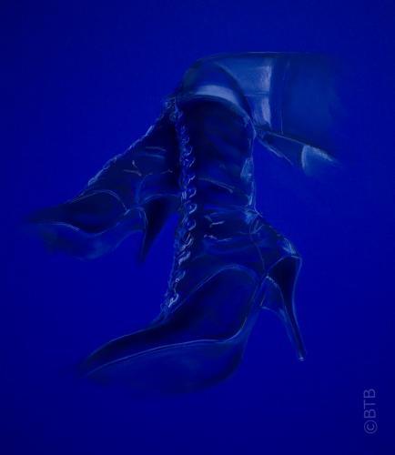 pastel blue boots